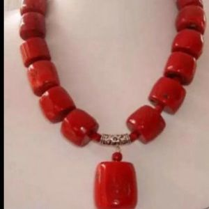 Jewelry - New big cylinder coral fashion necklace